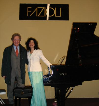 Ms. Rozalina Gutman with Mr. Paolo Fazioli in San Francisco, CA, USA